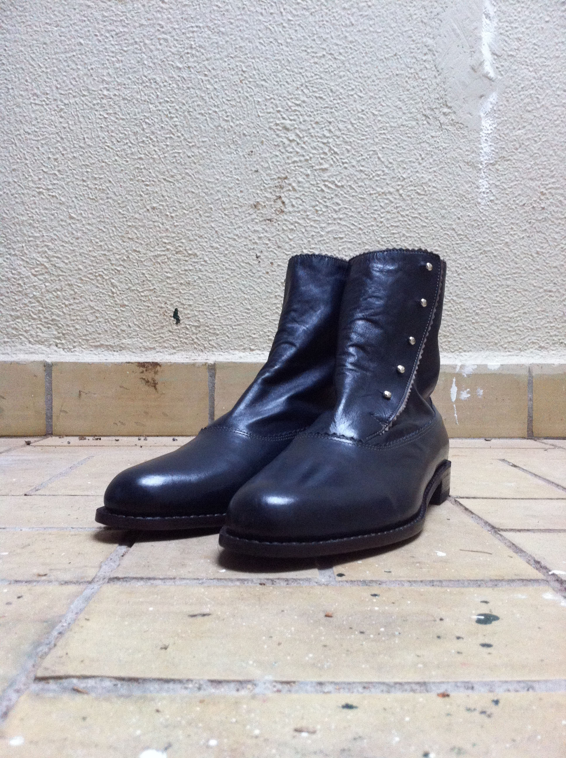 Buttoned Balmoral boots